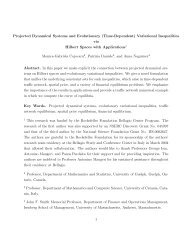 Projected Dynamical Systems and Evolutionary (Time-Dependent ...