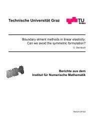 Technische Universit¨at Graz - Institut für Numerische Mathematik
