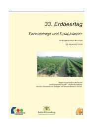 Tagungsband des 33. Erdbeertages 2008 - Baden-Württemberg