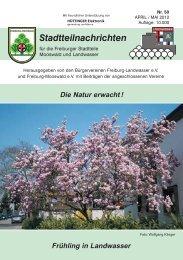 Stadtteilnachrichten Heft 50 - Bürgerverein Freiburg Mooswald eV