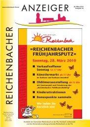 Kalenderwoche 12 - Gemeinde Reichenbach an der Fils