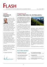 GIPFELTrEFFEN IN INTErLaKEN - Verband Schweizer Presse
