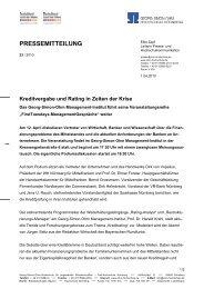 PRESSEMITTEILUNG - Ohm-Hochschule Nürnberg