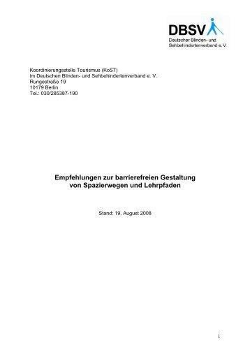 Empfehlungen zur barrierefreien Gestaltung von ... - NatKo