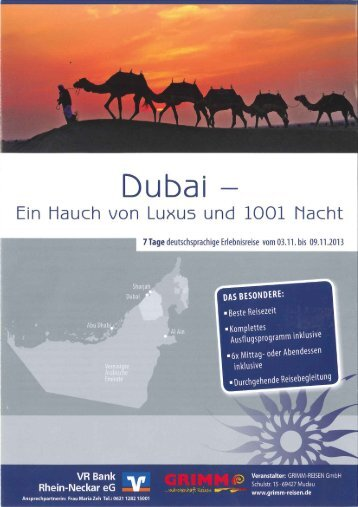 Prospekt Dubai - VR Bank Rhein-Neckar eG