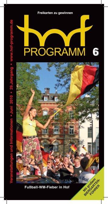 Juni - Hof Programm