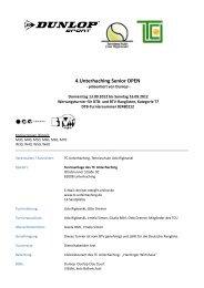 Ausschreibung - TC Unterhaching