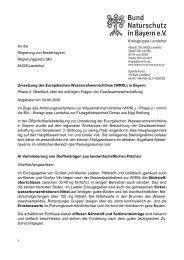 Gewässerentwicklung - Kreisgruppe Landshut des Bund Naturschutz