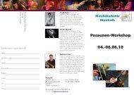 Posaunenworkshop Flyer als PDF-Datei - Internationale ...