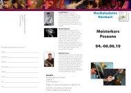 Meisterkurs Posaune - Internationale Posaunenvereinigung eV