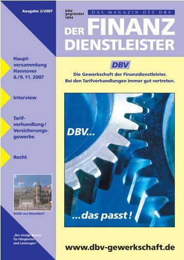 Ausgabe 02/2007 als pdf - DBV