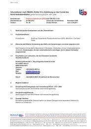 Informationen nach REACH, Artikel 33 in Anlehnung an ... - brohlburg