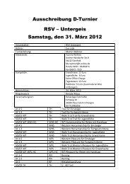 Ausschreibung D-Turnier RSV – Untergeis Samstag ... - EWU-Hessen