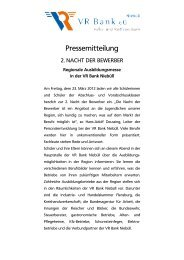 2. Nacht der Bewerber 23.03.2012 - VR Bank eG, Niebüll