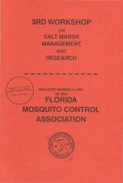 Bulletin # 3 (1997) (PDF) - Florida Mosquito Control Association