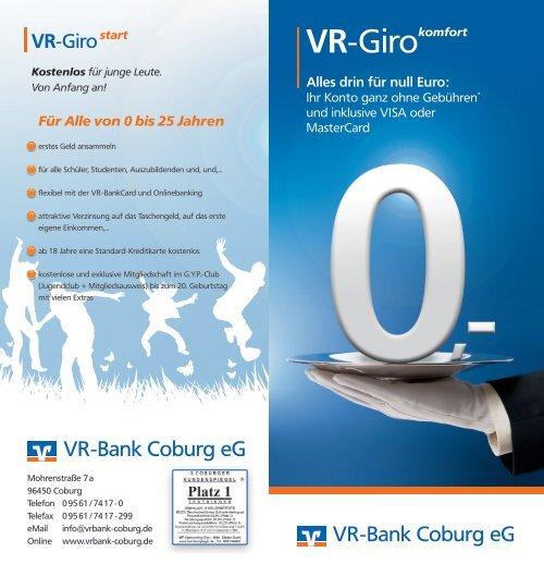 vr bank coburg online banking