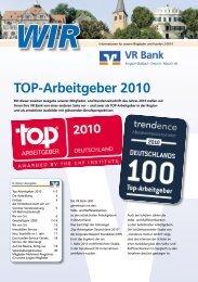 TOP-Arbeitgeber 2010 - VR Bank eG Bergisch Gladbach