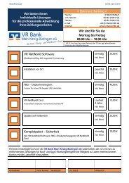 Bestellschein VR-NetWorld Software - VR Bank Main-Kinzig ...