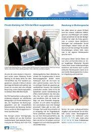 Ausgabe 2/2011 - VR-Bank Rhein-Sieg eG