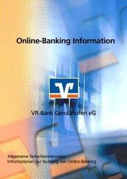 Kurzanleitung Online-Banking (Stand: 31.05.2012) - VR-Bank ...