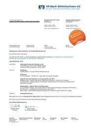 Einladung inkl. Antwortfax zum ausdrucken - VR-Bank Mittelsachsen ...