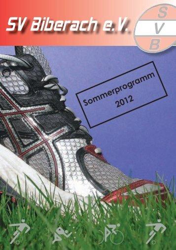 Sommerprogramm 2012 - SV Biberach