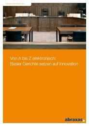 Von A bis Z elektronisch: Basler Gerichte setzen auf Innovation