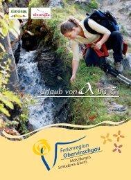 Urlaub von abis Z - Ferienregion Obervinschgau