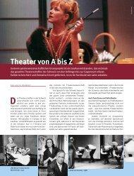 Theater von A bis Z - Schweizerischer Nationalfonds (SNF)