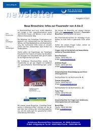 Infos zur Feuerwehr von A bis Z - Unfallkasse Rheinland-Pfalz