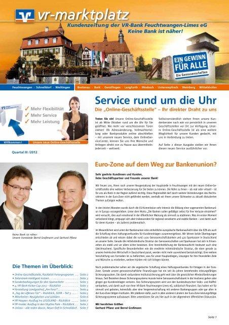 Ausgabe Iii Quartal 2012 Vr Bank Feuchtwangen Limes Eg