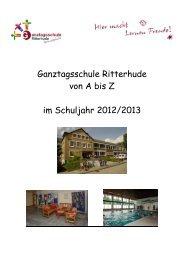 Ganztagsschule Ritterhude von A bis Z im Schuljahr 2012/2013