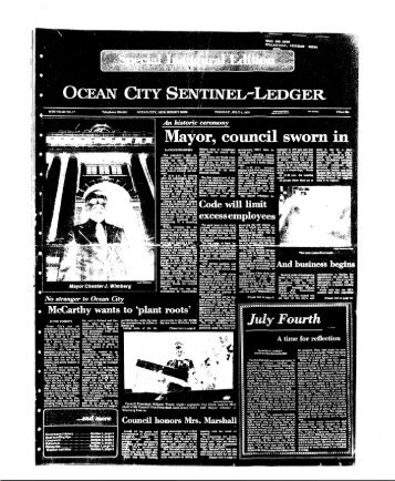 council sworn in - On-Line Newspaper Archives of Ocean City