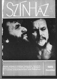 Az 1989-es év (XXII. évfolyam) tartalomjegyzéke - Színház