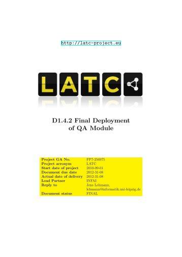 latc-wp1-D142-Final deployment of QA module
