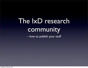 PDF (926 KB) - IxD Factory