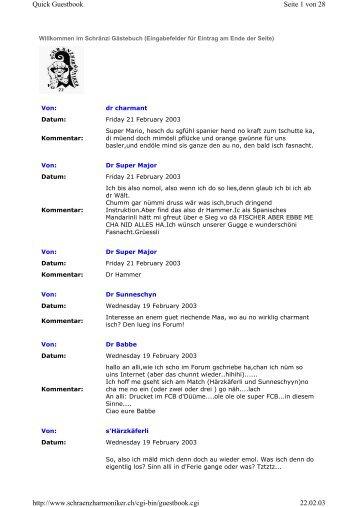 Seite 1 von 28 Quick Guestbook 22.02.03 http://www ...