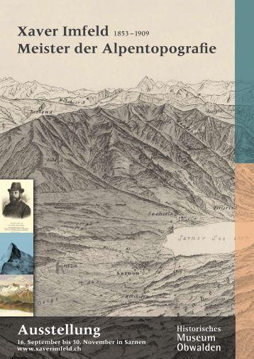 Flyer Buch und Ausstellung - Xaver Imfeld