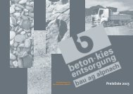 aktuelle Preisliste 2013 - bei der bau ag alpnach