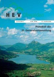 Ausgabe 2 /2008 - HEV-OW