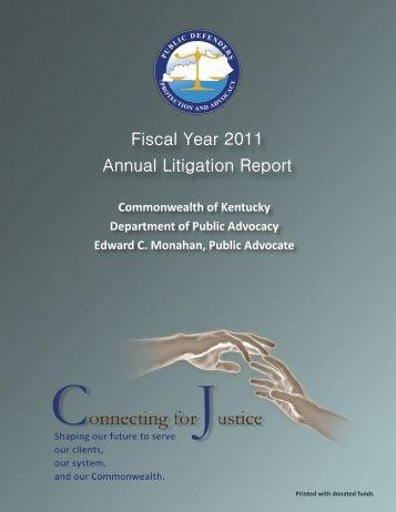 DPA 2011 Annual Report - Department of Public Advocacy