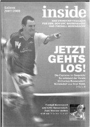 Sponsoring im inside - dem Unihockey-Magazin - gt bau AG
