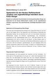 Diese Medienmitteilung zum Downloaden (PDF, 54 KB) - Schweizer ...