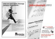 Jahreskonzert 2013 - Stadtmusik Winterthur