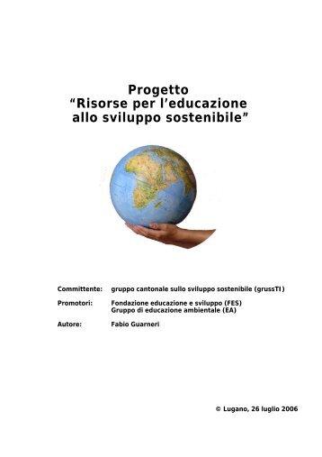 """Progetto """"Risorse per l'educazione allo sviluppo sostenibile"""""""