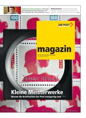 magazin - Was die Schweizerische Post bewegt - Ausgabe ...