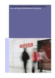 und Umbau Raiffeisenbank Hünenberg - Competitionline