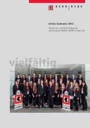 BCBE im ersten Semester 2012 - BEKB