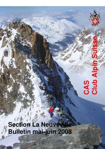 Mai - juin 2008 - CAS La Neuveville