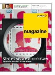 magazine - La Poste Suisse bouge - Edition novembre 2010